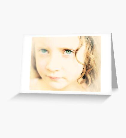 Experimental Portrait of Mila Greeting Card