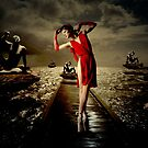 Siren - Surreal Ballerina in Red by Galen Valle