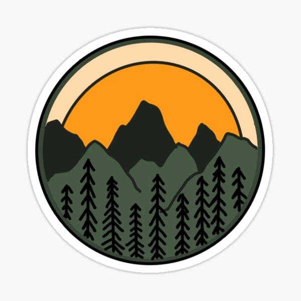 Mountains at Sunset Sticker