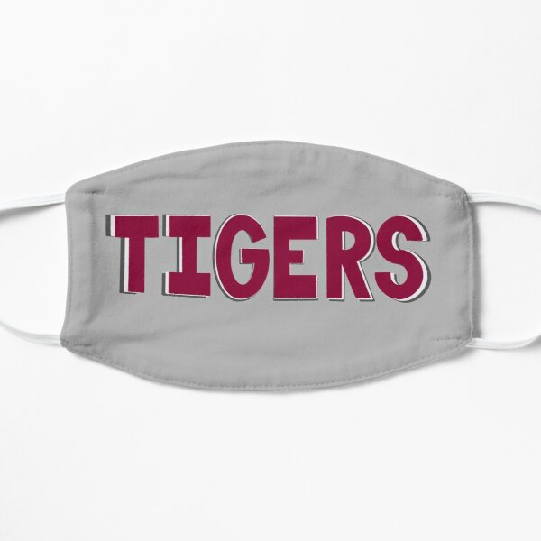 Maroon Tigers on Gray Mask