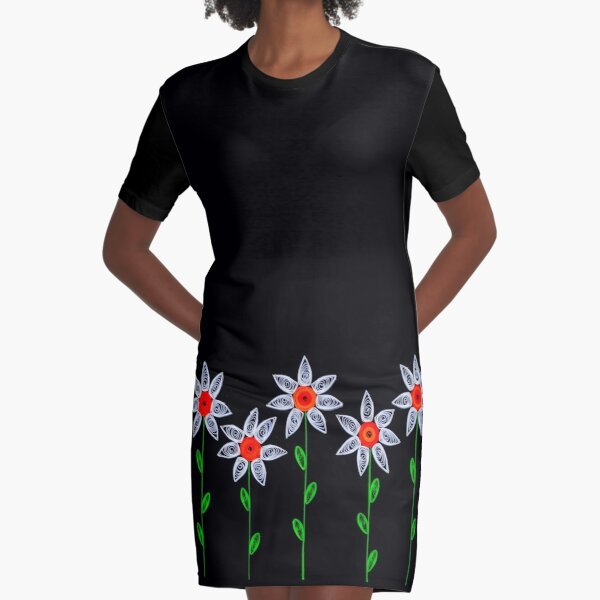 Star Flowers Graphic T-Shirt Dress