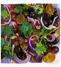 Grape & Red Onion Salad Poster