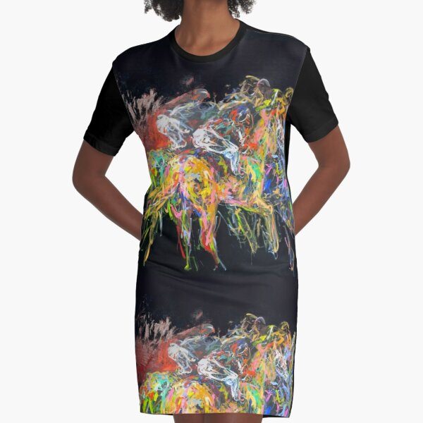 Derby abstract Graphic T-Shirt Dress