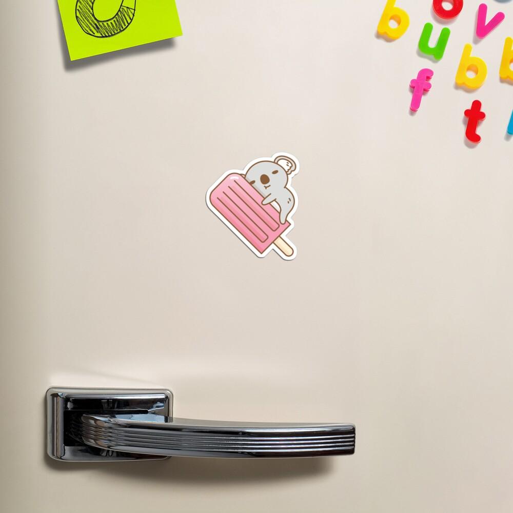 cute koala and pink ice pop  Magnet