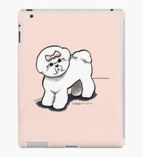 Girly Bichon Frise iPad Case/Skin