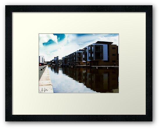 Flats on the Union Canal, Edinburgh by Sue Fallon Photography