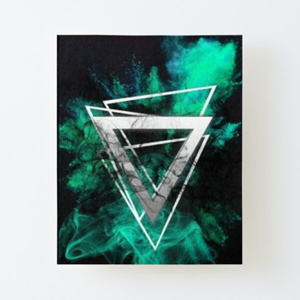 color triangl decor Canvas Mounted Print