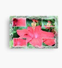 Hibiscus Collage Canvas Print