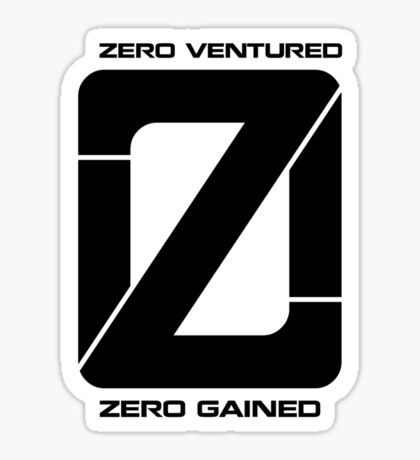 Zero Venture Zero Gained Numero Logo Sticker