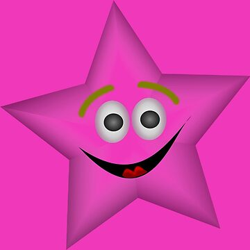 Pink Smiling Star by LittleCsDesigns