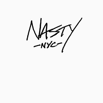 ONE WORD: Nasty - Black Thin Script Tee by 1WORD