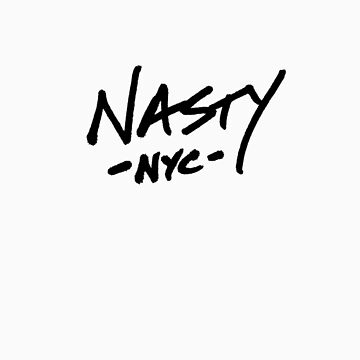ONE WORD: Nasty - Black Thick Script Tee by 1WORD