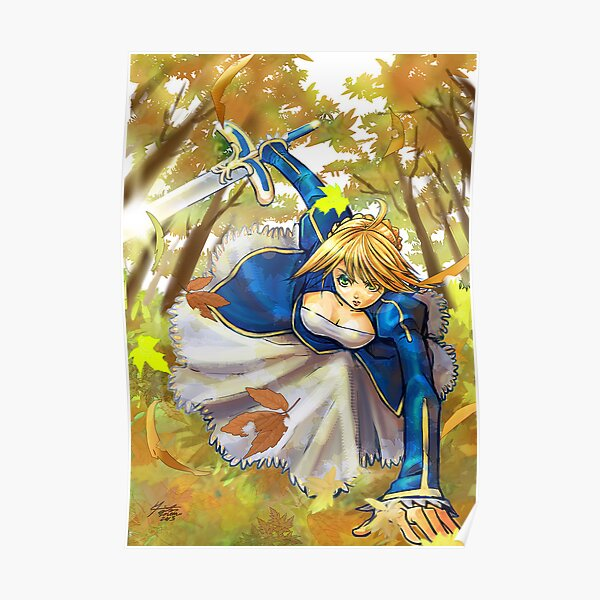 Saber  fate stay night Poster