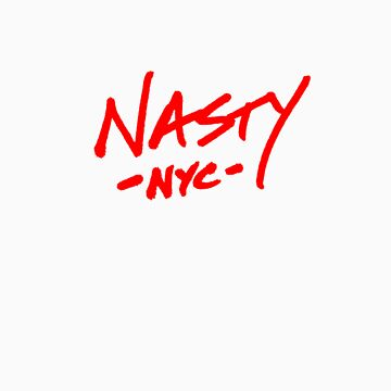 ONE WORD: Nasty - Red Thick Script Tee by 1WORD
