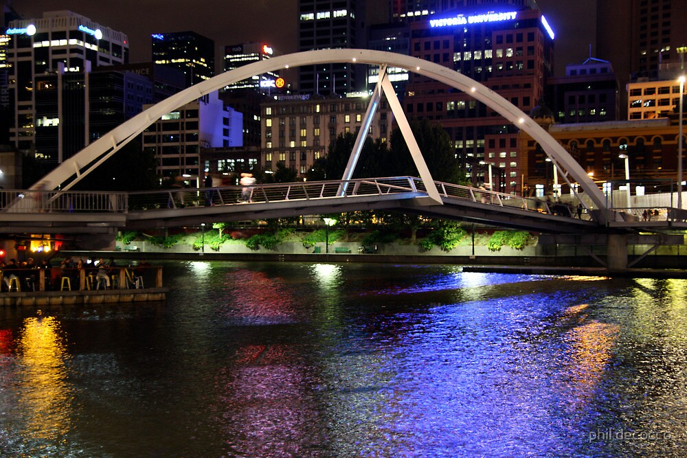 Yarra River Pedestrian Bridge by phil decocco