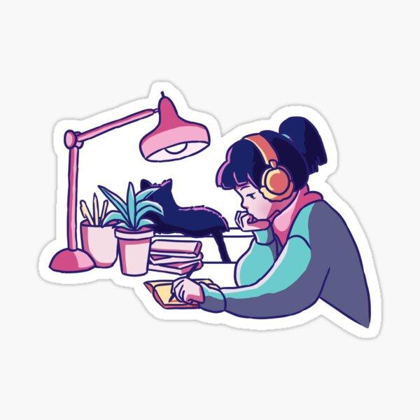 lofi study girl Sticker
