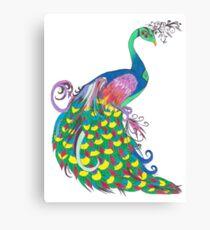 Rainbow Peacock Canvas Print