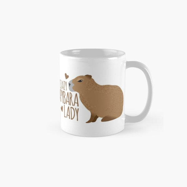 Crazy Capybara lady Classic Mug