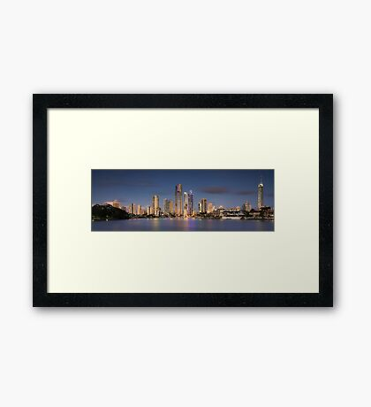 Surfers Paradise - The Glitter Strip Skyline Framed Print