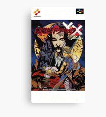 Castlevania Akumajo Dracula X Nintendo Super Famicom Japanese Box Art Canvas Print