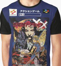 Castlevania Akumajo Dracula X Nintendo Super Famicom Japanese Box Art Graphic T-Shirt
