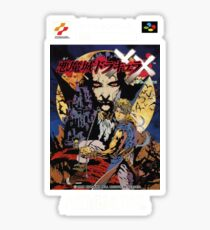 Castlevania Akumajo Dracula X Nintendo Super Famicom Japanese Box Art Sticker