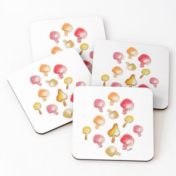 Cute watercolour mushrooms  Coasters (Set of 4)