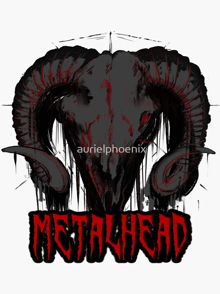"Grey Satanic Skull ""Metalhead"" by aurielphoenix"