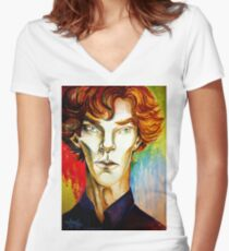 Sherlock: A Study in Colour Women's Fitted V-Neck T-Shirt