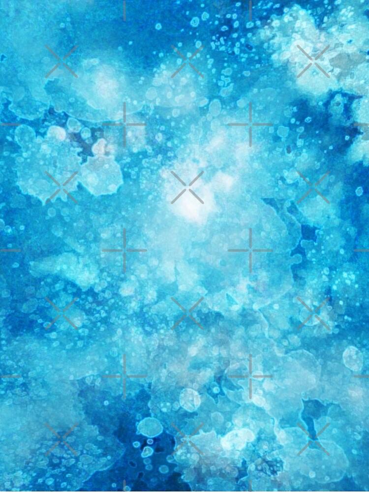 Blue watercolor spaltters by ebozzastudio