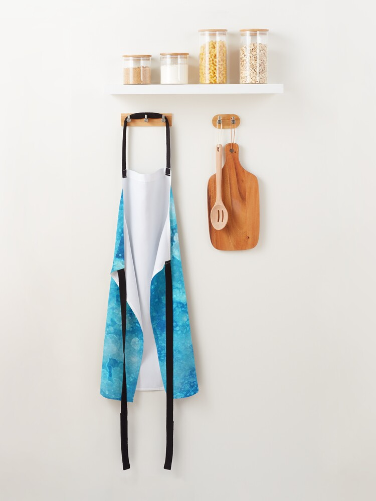Alternate view of Blue watercolor spaltters Apron