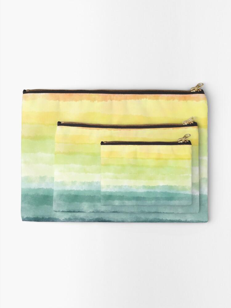Alternate view of Retro breeze _ watercolour Zipper Pouch
