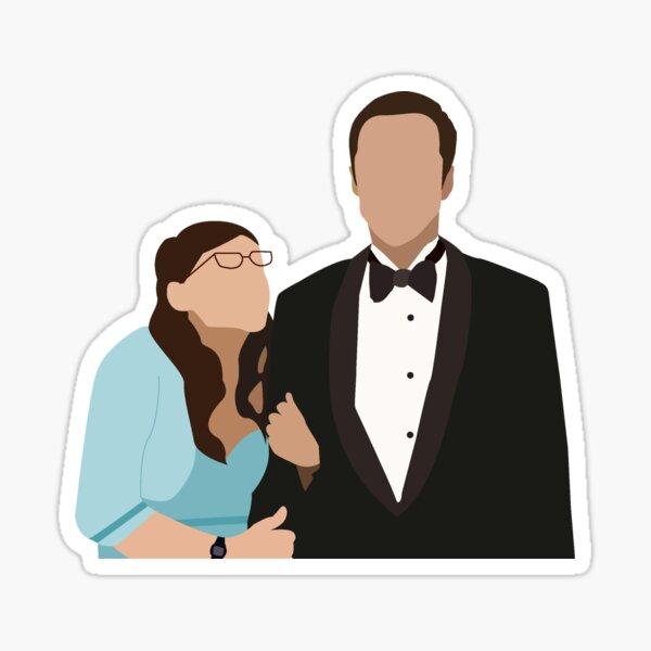 Sheldon et Amy à PROM Sticker