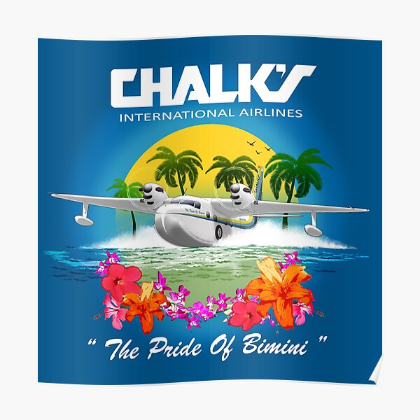CHALKS AIRLINES  Poster