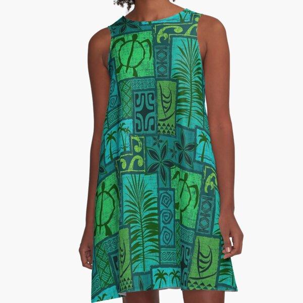Moku Malihini blue A-Line Dress