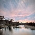 River Sunset by Beverly Cash