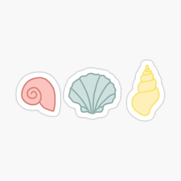 seashells- primary colors Sticker