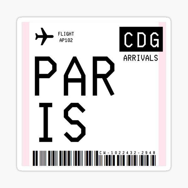Paris Mini Boarding Pass Sticker