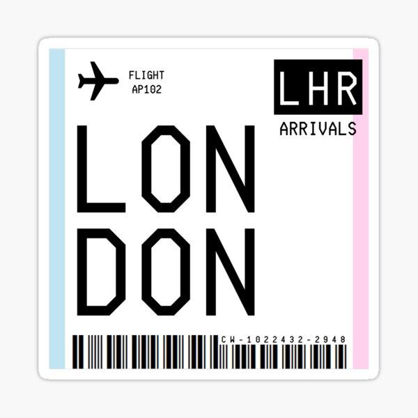 London Mini Boarding Pass Sticker