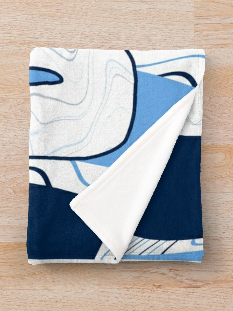 Alternate view of URI funky fresh waves Throw Blanket