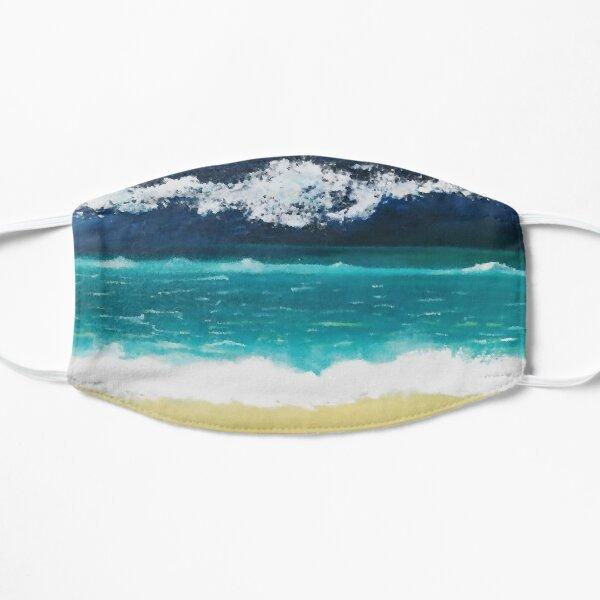 Beach Blue Waves Digital Oil Painting Mask