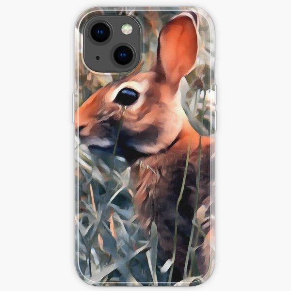 Woodland bunny rabbit iPhone Soft Case