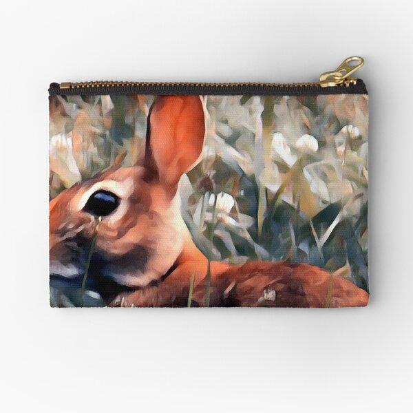 Woodland bunny rabbit Zipper Pouch