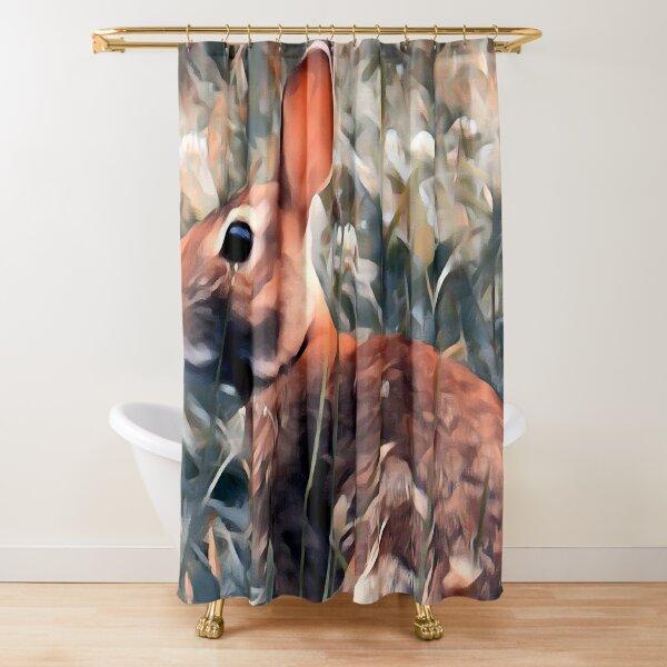 Woodland bunny rabbit Shower Curtain