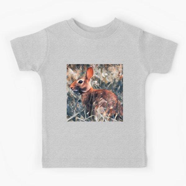 Woodland bunny rabbit Kids T-Shirt