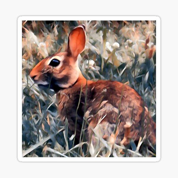 Woodland bunny rabbit Sticker