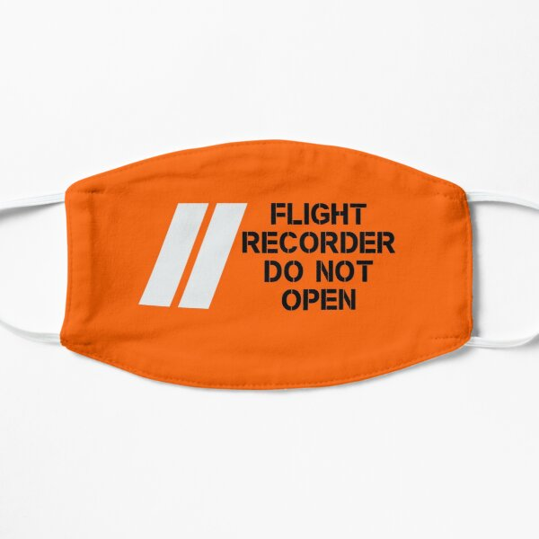 BLACK BOX - Flight Recorder - Do Not Open Flat Mask