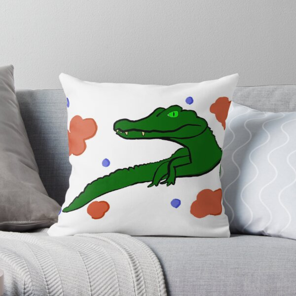 The Cool Caiman Throw Pillow