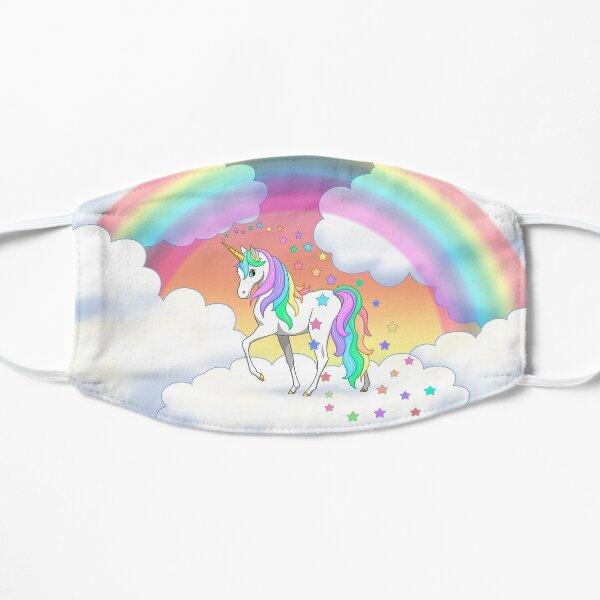 Pretty Rainbow Unicorn Clouds Colorful Falling Stars Mask