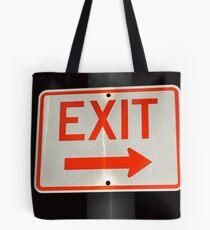 Exit Sign Tote Bag
